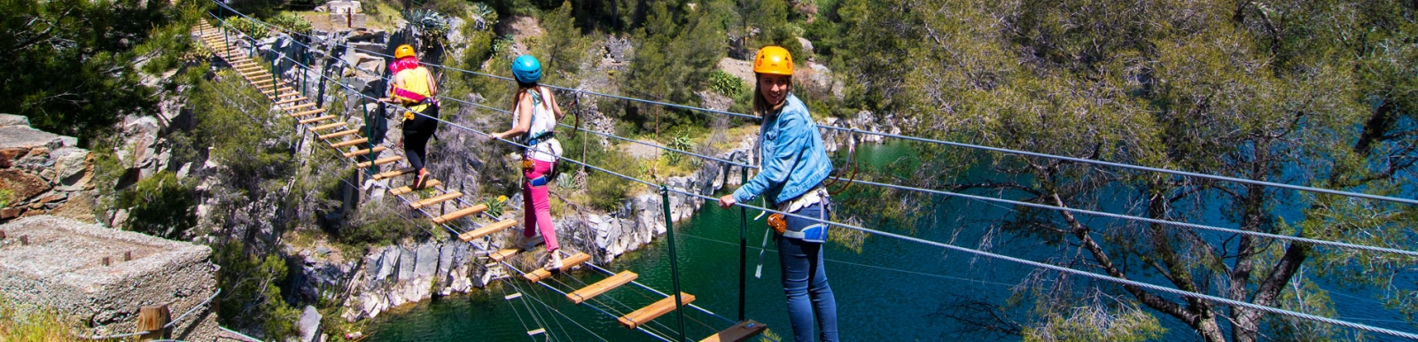 parcours aventure lac du dramont