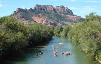 kayak sur l'argens roquebrune