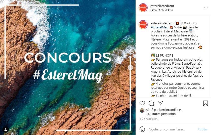 instagram jeu concours esterelmag