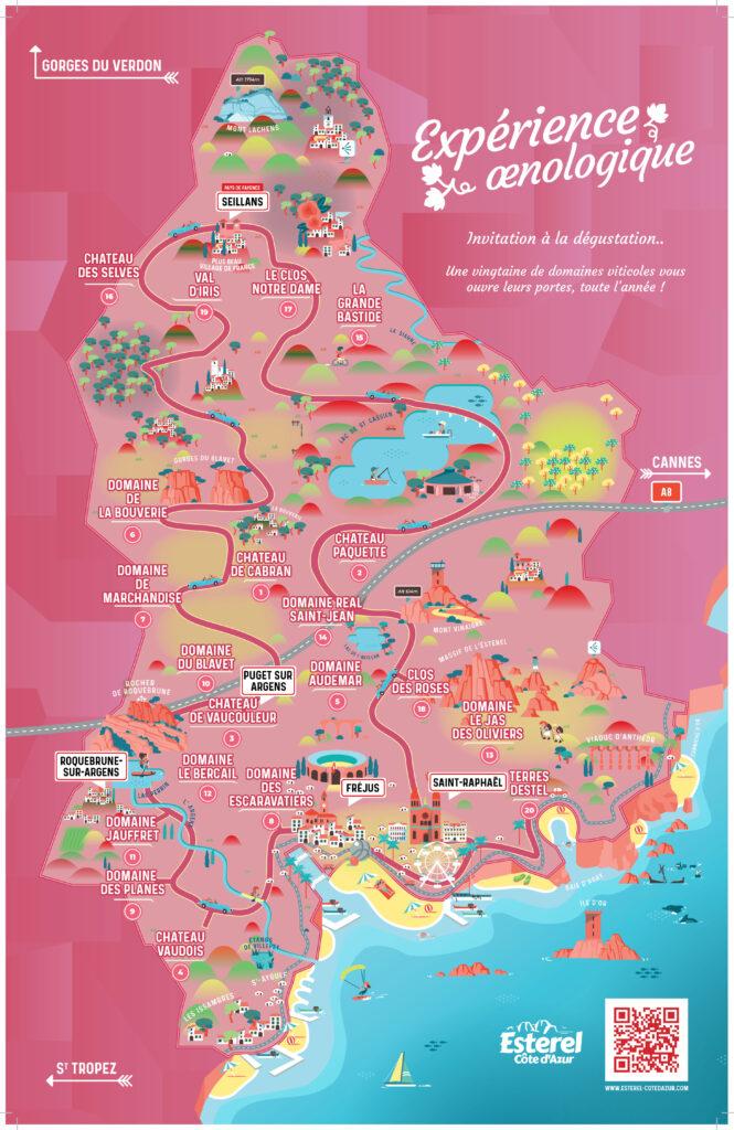 carte des domaines viticoles