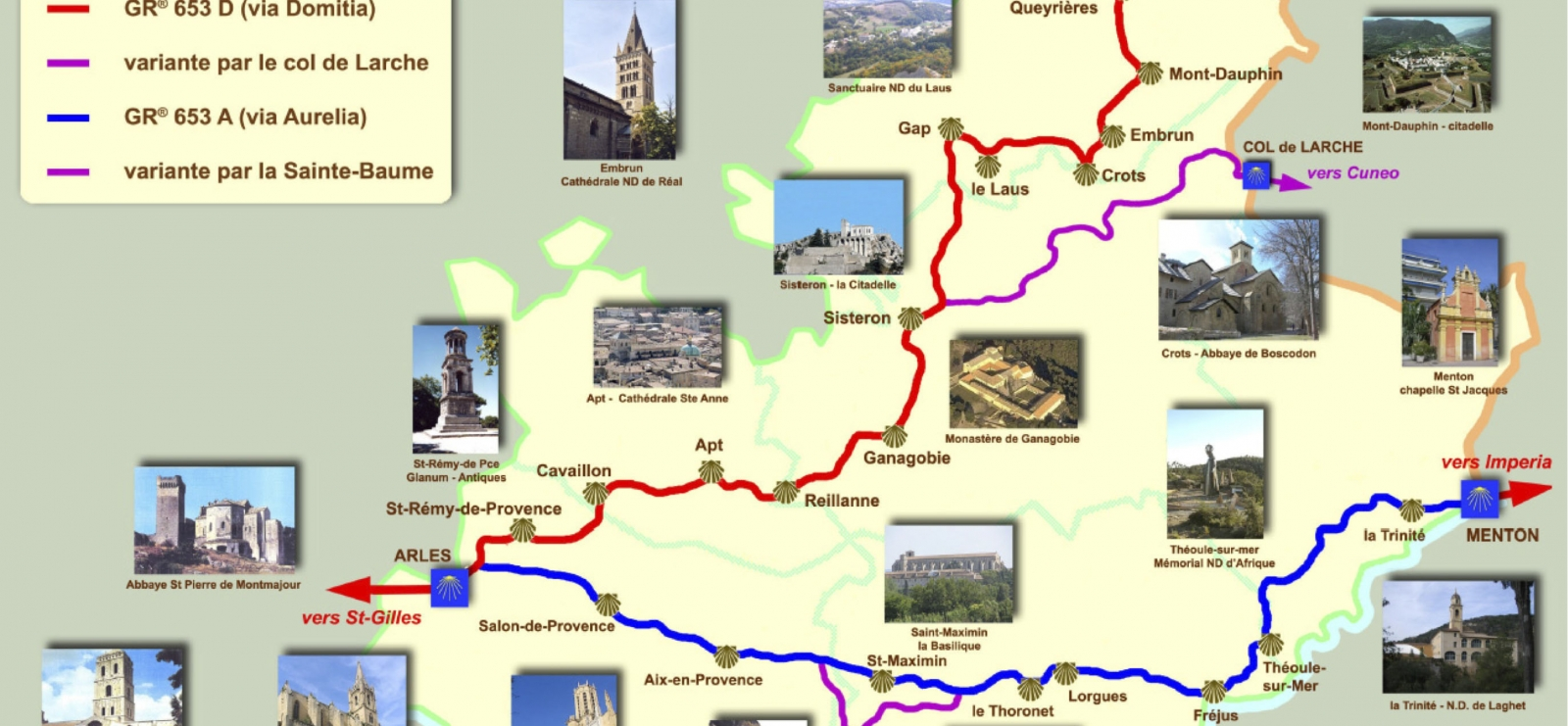 Carte du Chemin de Compostelle