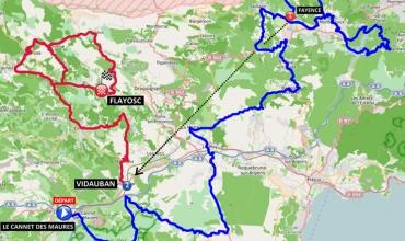 carte tracé parcours