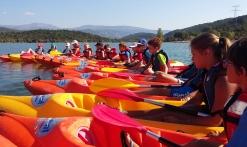 Dinghy fun camp plage