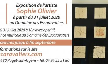 Art et Vin : Exposition de Sophie Olivier au Domaine des Escaravatiers