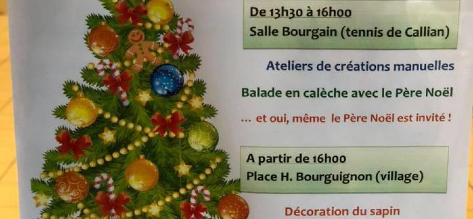Déco de l'arbre de Noël