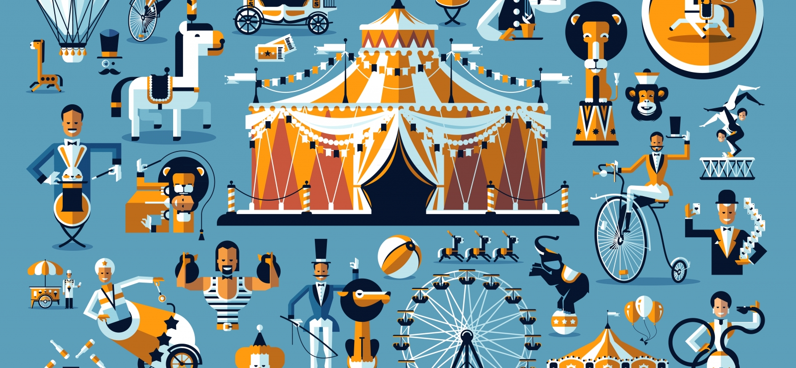 Summer circus show