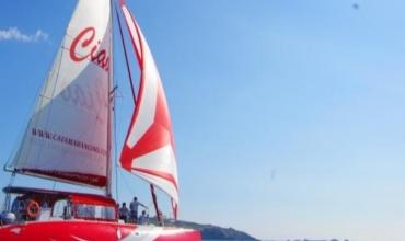 Mer et nature Demijournee Roches rouges en maxi catamaran2