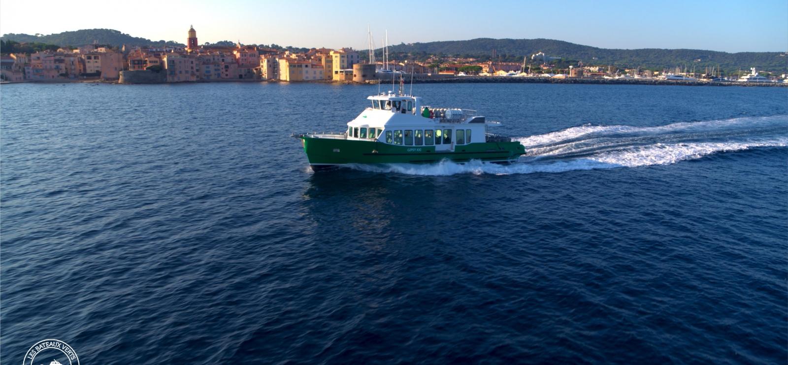 Les Bateaux Verts boat shuttle service to Saint-Tropez