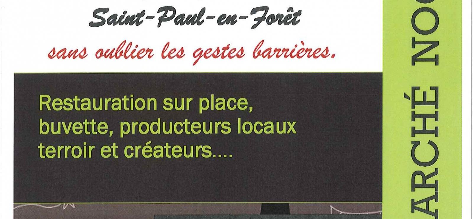 Affiche Marché Nocturne St paul en forêt