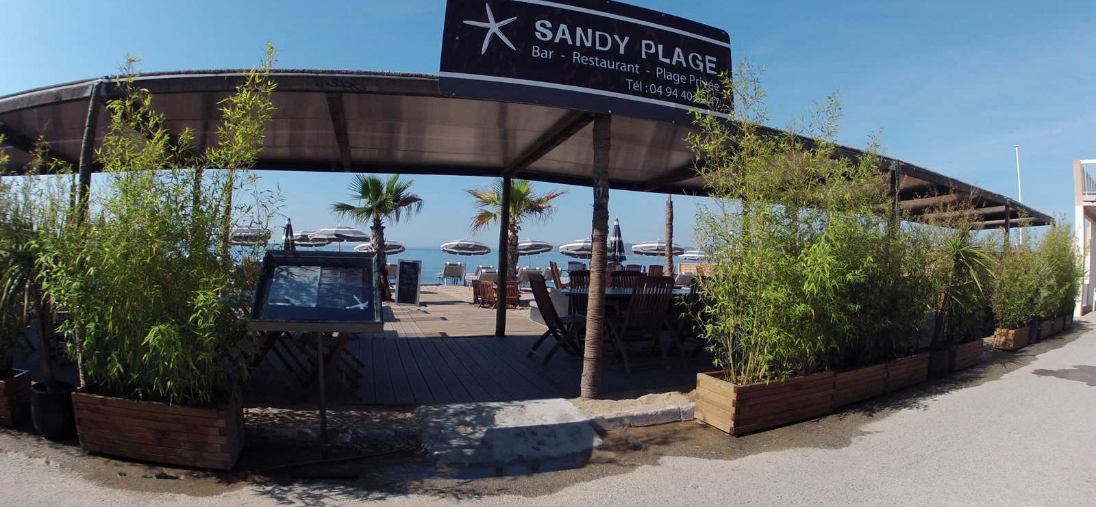 Sandy plage