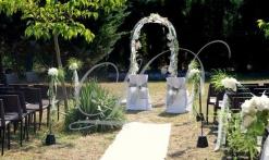 jardin pour un mariage