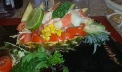 salade exotique sucré salé
