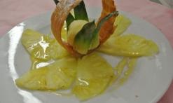 dessert aux ananas