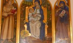 Triptyque -intérieur de l'église