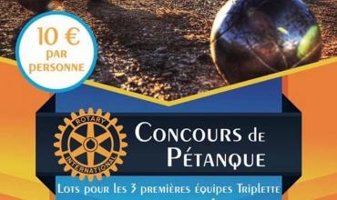 Concours de pétanque du Rotary Club