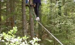 le parcours aventure dans les arbres