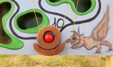 Animation de jeux en bois géants sur la thématique du train