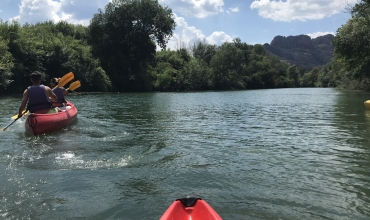 Base du rocher - balade en canoe