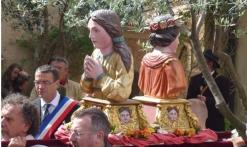bustes reliquaires en procession