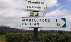 signalétique le Pays de Fayence la Méditerranée à vélo