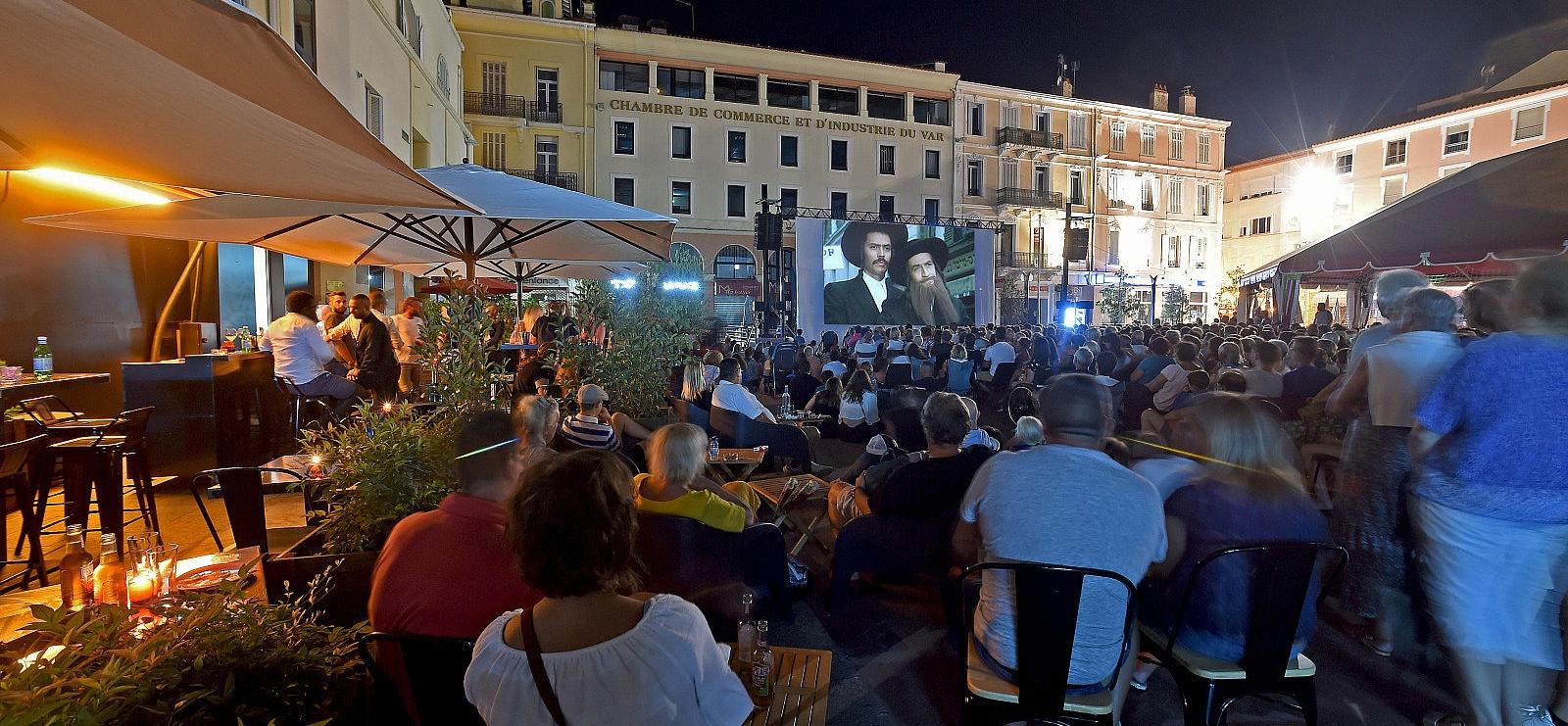 Cinéma de plein air en Août
